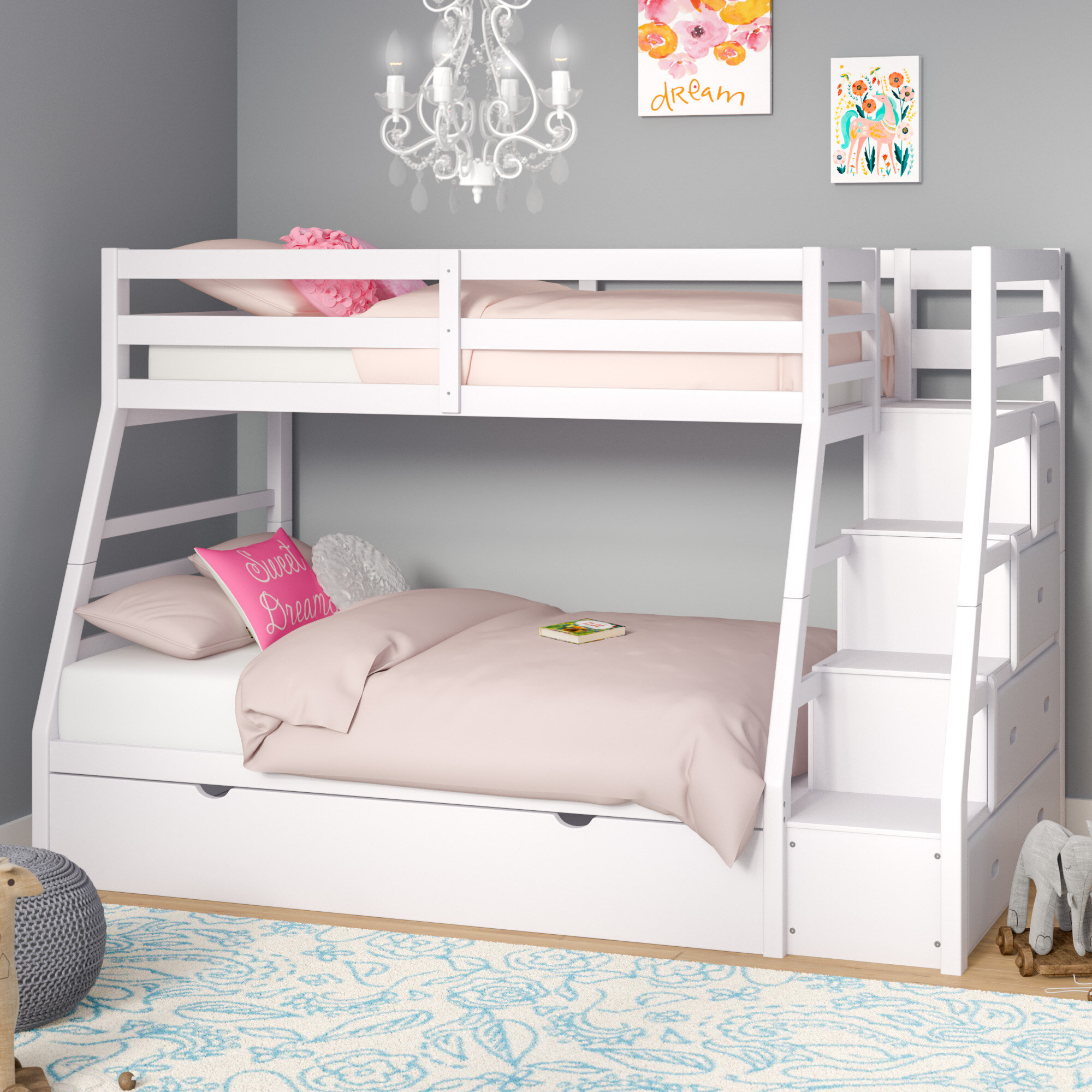height bed easy kids decofurnish larger low beds full with bunk steps ikea l ceiling stairs view