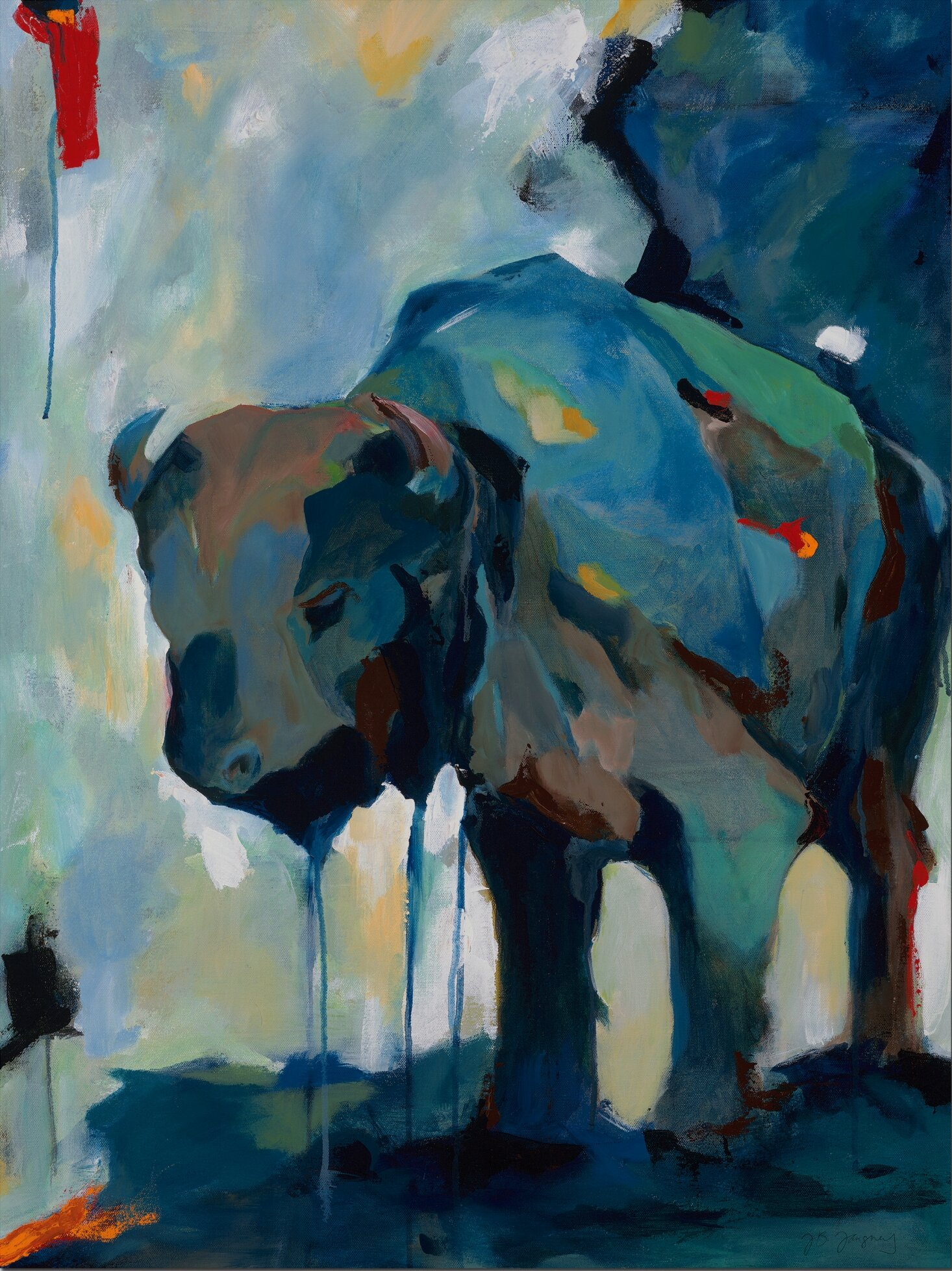 Latitude Run \'Watercolor Buffalo\' Painting Print on Wrapped Canvas ...