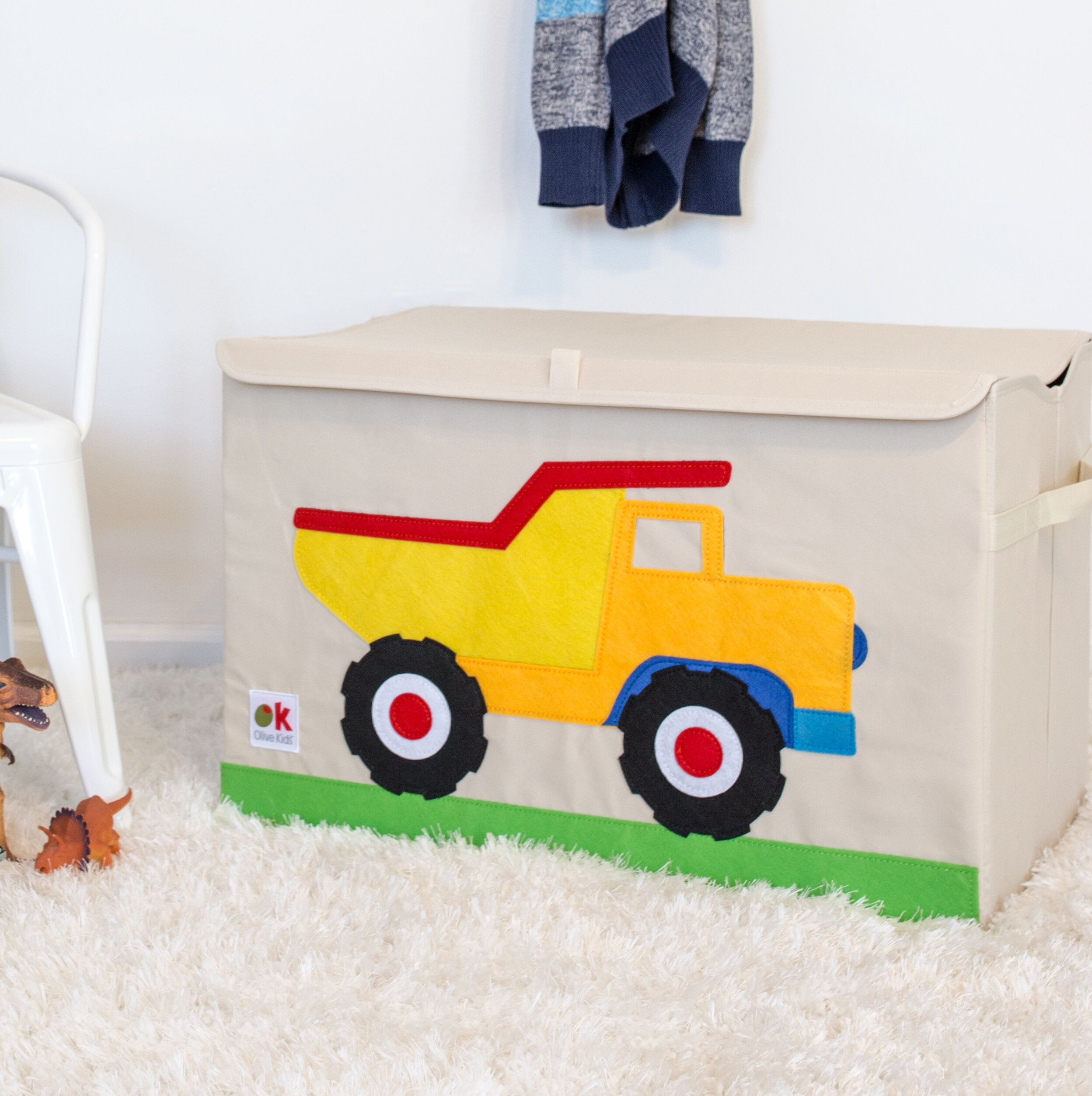 Wildkin Olive Kids Dump Truck Toy Box Reviews Wayfair