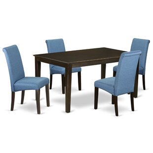Amplas 5 Piece Solid Wood Dining Set