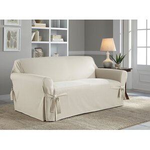 Cotton Duck Box Cushion Loveseat Slipc..