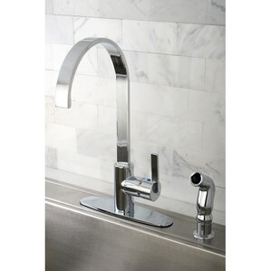 Kingston Brass Continental Gourmetier Single Handle Kitchen Faucet