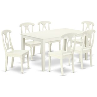 Lagasse 7 Piece Solid Wood Dining Set