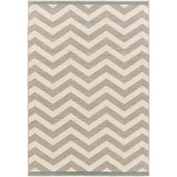 Winston Porter Breana Ivory/Taupe Indoor/Outdoor Area Rug ...
