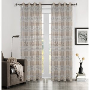 Buy Addie Striped Semi-Sheer Grommet Curtain Panels (Set of 2)!
