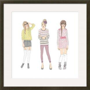 Teen Femalesu0027 By Cherry Blossom Girl Framed Graphic Art