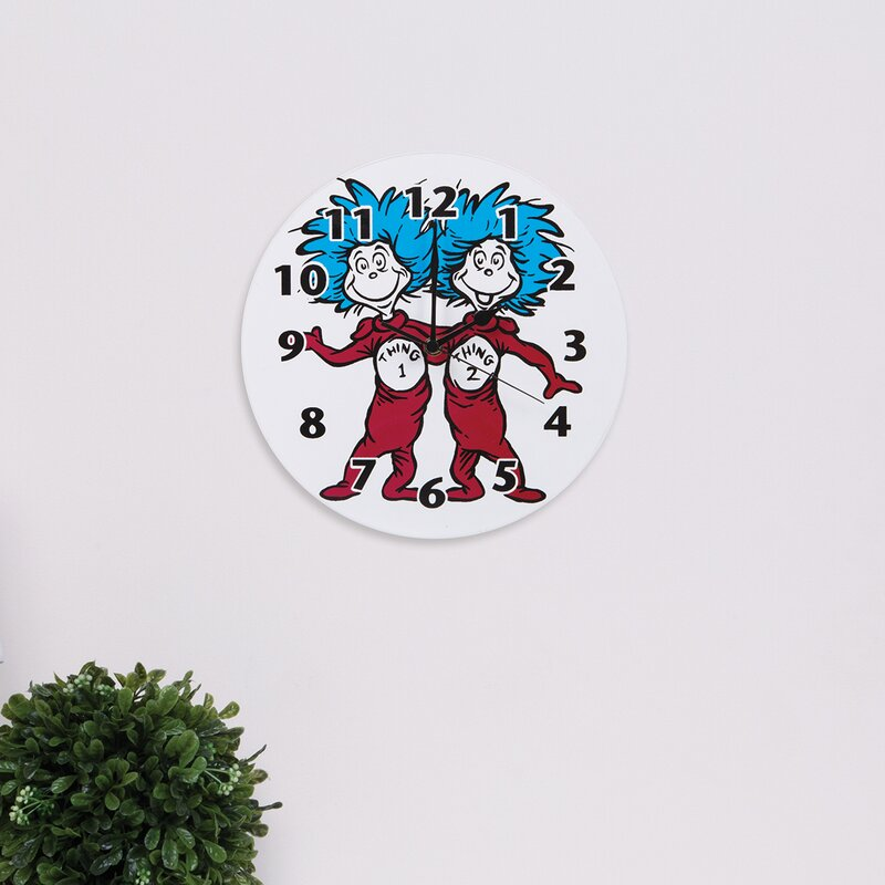 6be872c9 Trend Lab Dr. Seuss Cat in the Hat Thing 1 and Thing 2 Wall Clock & Reviews  | Wayfair