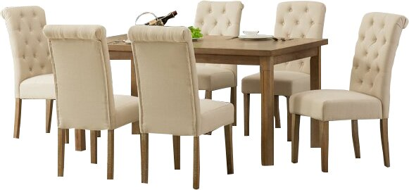 Kenleigh Solid Wood 7 Piece Dining Set