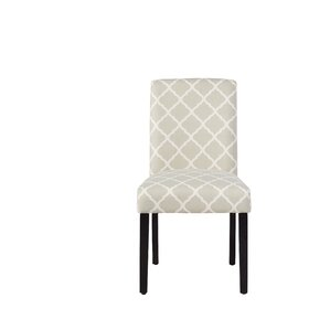 Parish Side Chair in Soft Gray Lattice by Andover Mills