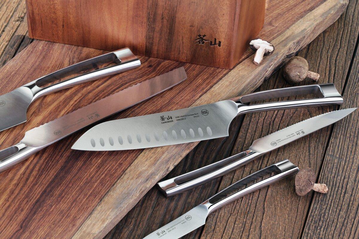 cangshan n1 series 6 piece german steel knife block set u0026 reviews