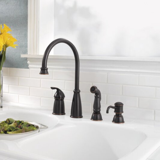 Pfister Avalon Single Handle Kitchen Faucet With Side