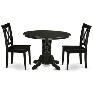 Greenfield 3 Piece Solid Wood Breakfast Nook Dining Set