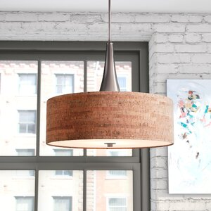 Haugland 3-Light Drum Pendant