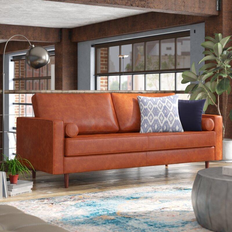 Trent Austin Design Bombay Leather Sofa & Reviews | Wayfair