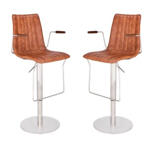 Denholme Adjustable Height Swivel Bar Stool (Set of 2)