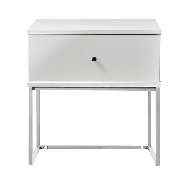 Round White Bedside Table Wayfair