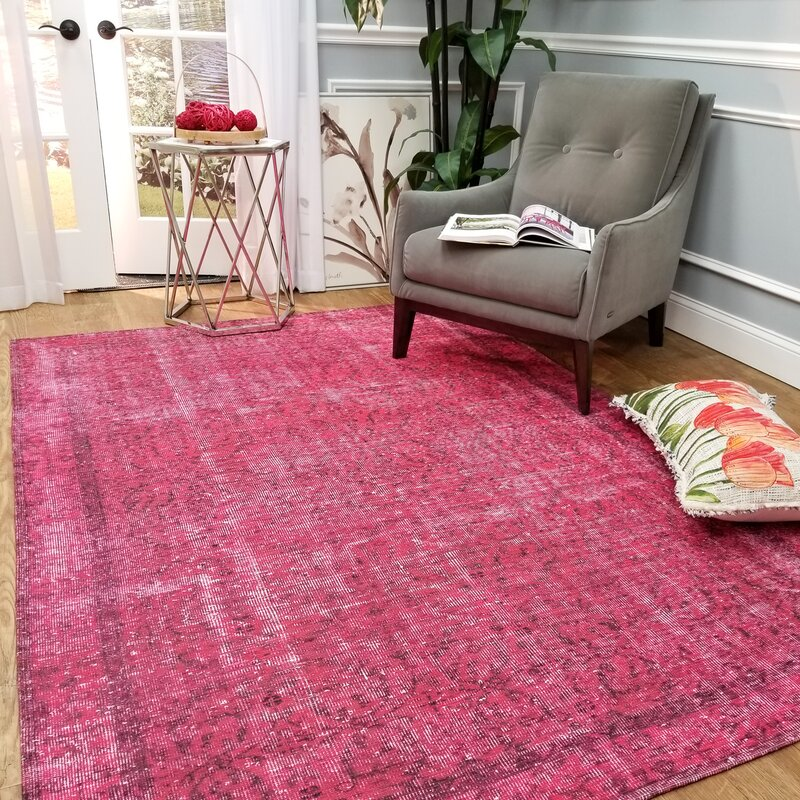 Bloomsbury Market Wooldridge Victoria\'s Magenta Area Rug & Reviews ...
