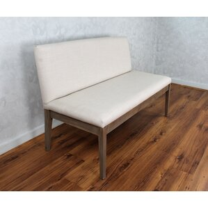 camden upholstered bench with back