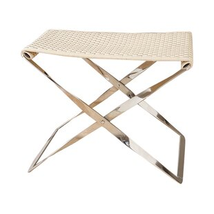 Woven Cowhide Bench