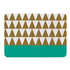 Geo Green by Suzanne Carter Bath Mat
