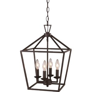 carmen 4light pendant - Bronze Pendant Light
