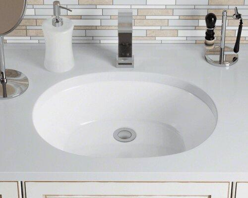 Vitreous China Oval Undermount Bathroom Sink