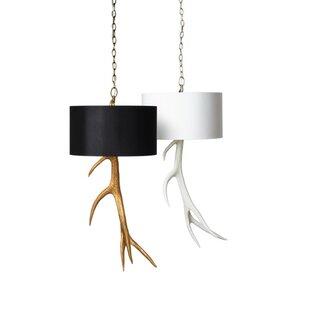 Elk pendant lighting wayfair elk antler drum pendant aloadofball Image collections