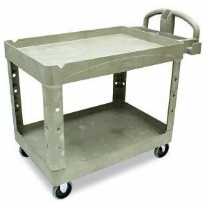 Commercial Heavy-Duty Two-Shelf Utility Cart