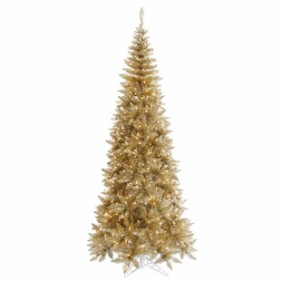 tinsel 65 champagne fir artificial christmas tree with 400 clear lights