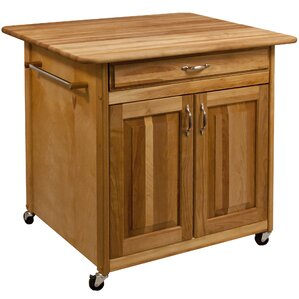 Kitchen Island with Butcher Block Top ..