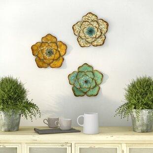 Ensemble De 3 Décorations Florales