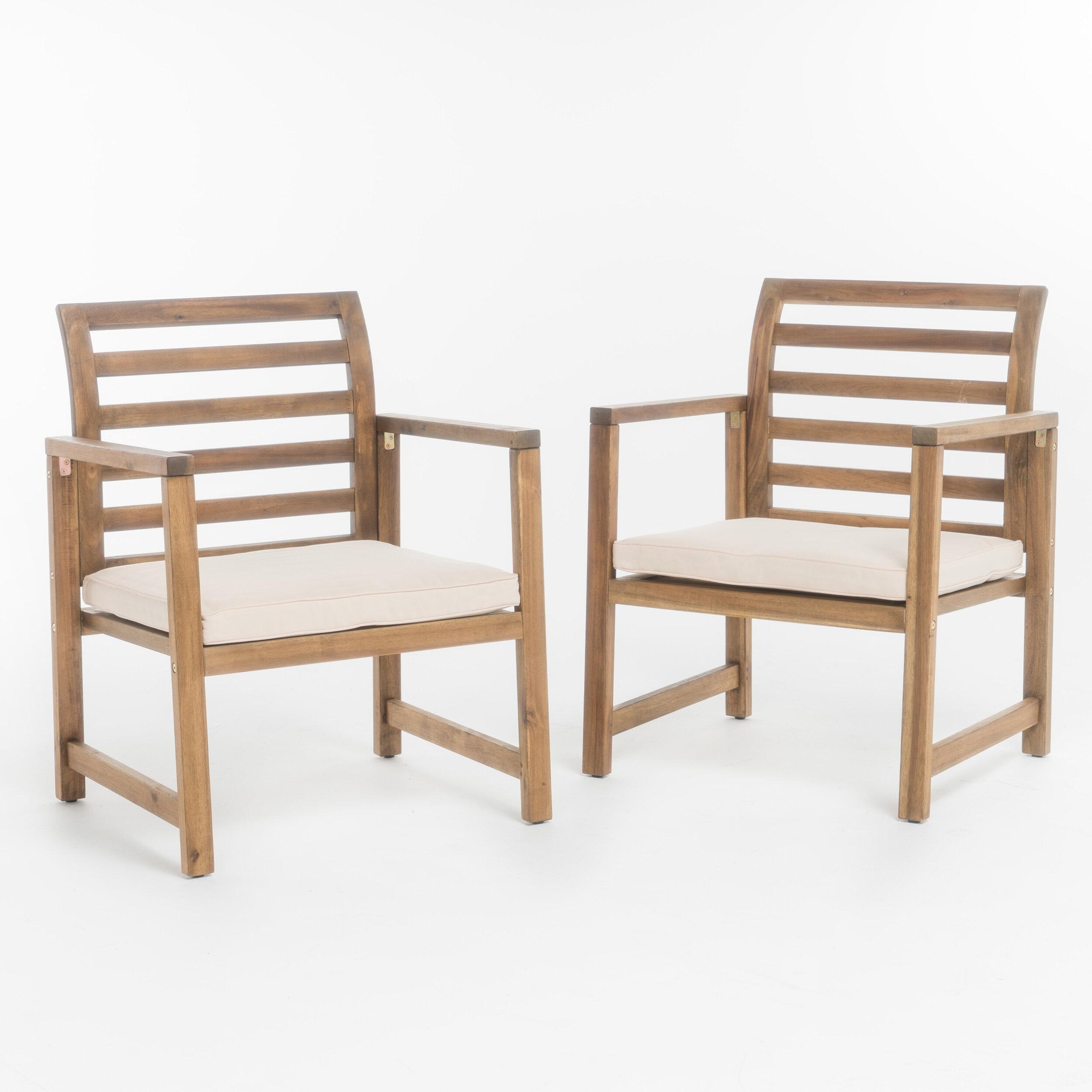 Beau Gaynelle Outdoor Arm Chair With Cushion