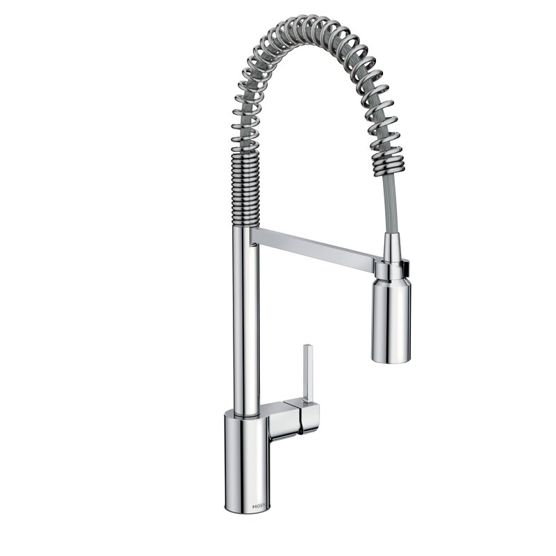 Kitchen Faucet Pull Down Part - 26: Align One Handle Pre-Rinse Spring Pulldown Kitchen Faucet