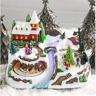 christmas village with river led scene - Lemax Christmas Village