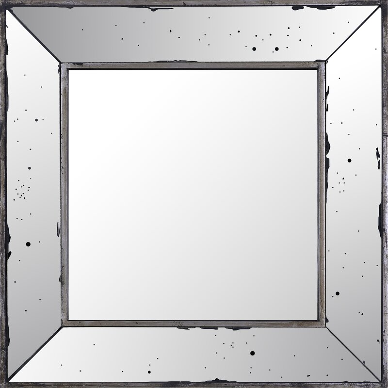 Highland Dunes Odin Square Mirrored Frame Accent Mirror | Wayfair