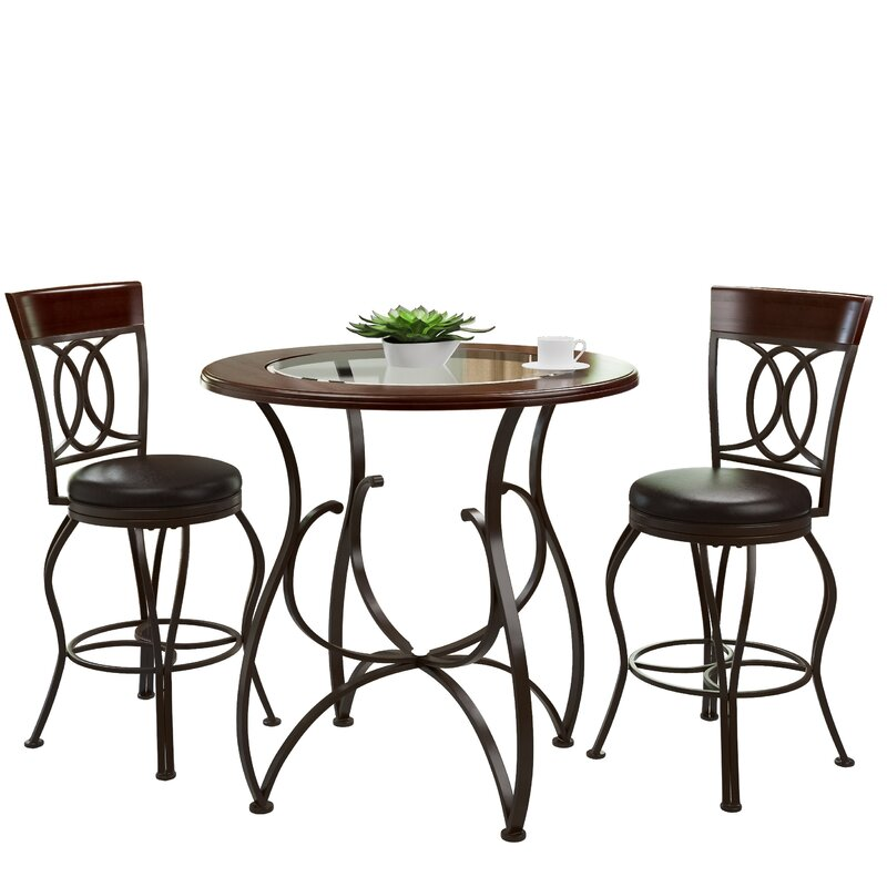 Etonnant Mekhail Counter Height Rustic Pub Table Set