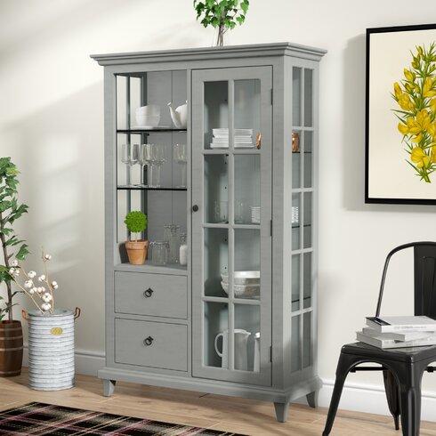 Lefevre Glass Shelf Curio Cabinet Laurel Foundry