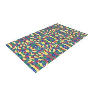 Empire Ruhl Energy Abstract Pattern Green/Yellow Area Rug