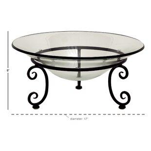 Decorative Glass Metal Bowl
