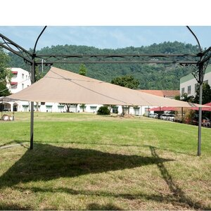 Outdoor 12′ Triangle Shade Sail with 3 Stainless Steel D-Rings