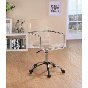 Ghost office chair Pink Gold Lela Writing Desk And Chair Set Wayfair Clear Acrylic Ghost Desk Chair Wayfair