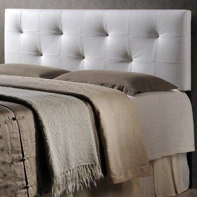 Orren Ellis Eladia Upholstered Panel Headboard Size: Queen, Upholstery: White