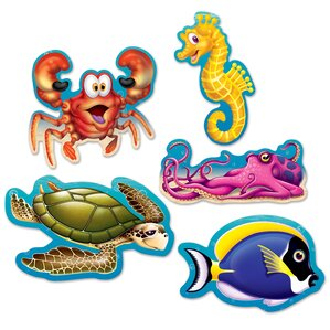 Mini Under The Sea Cutouts Wall Decal (Set Of 6) Part 97