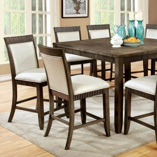 Raffa Transitional Counter Height Solid Wood Dining Table
