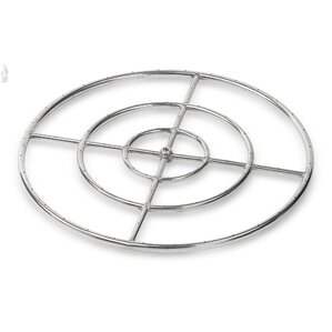 triple stainless steel fire pit ring burner set of 6