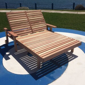 Double Patio Chaise Lounge Chairs Youll Love Wayfair - Double chaise lounge outdoor furniture