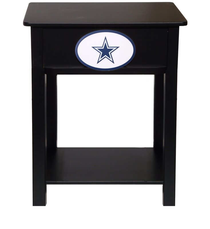 Fan creations nfl end table reviews wayfair for Transmutation table 85 items