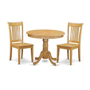 Brendan 3 Piece Breakfast Nook Solid Wood Dining Set New