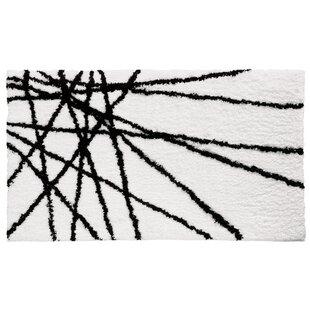 Abstract Black / White Area Rug InterDesign