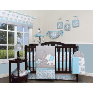 blizzard elephant 13 piece crib bedding set - Baby Bedding For Boys